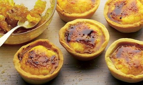 Dan Lepard's crema Catalana tart: Spain in a mouthful (or two). Photograph: Colin Campbell for the Guardian