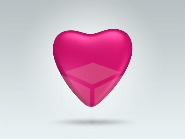 Metallic Pink Heart