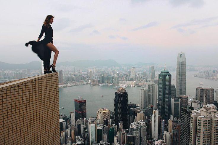 Прекрасное  платье от @mashacurlydesign #curlyhouse  Photo by @beerkus  #chasingrooftops #city_explore #rooftopping #neverstopexploring #killeverygram #killtheaboveground  #urbanexploration #china #roof #rooftop #hongkong