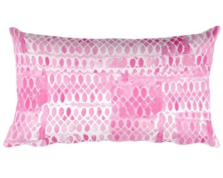 Best Hot Pink Accent Pillow 12X20 Pink Nursery Pillow Pink 400 x 300