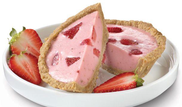 Pastel frío de fresa