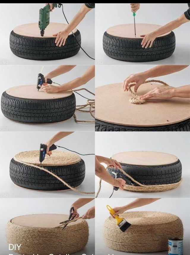 Creative recycling maybe for outside sitting