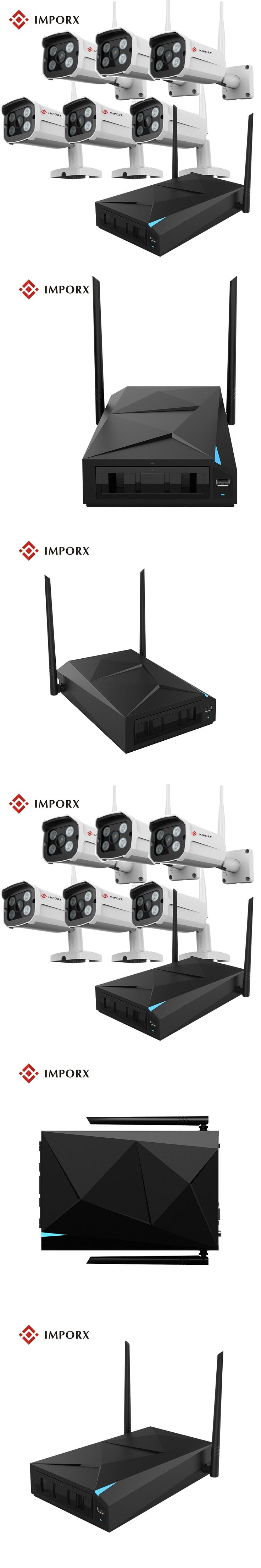 2017 CCTV Security System HD 8CH NVR with 6PCS Bullet 720P IR Night Vision Wireless IP Camera 8 Channel Video Surveillance Kit