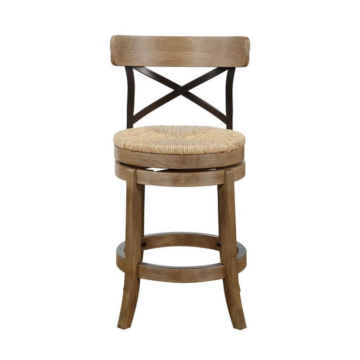 Boraam Myrtle 24 In Counter Stool In Gray Wire Brush