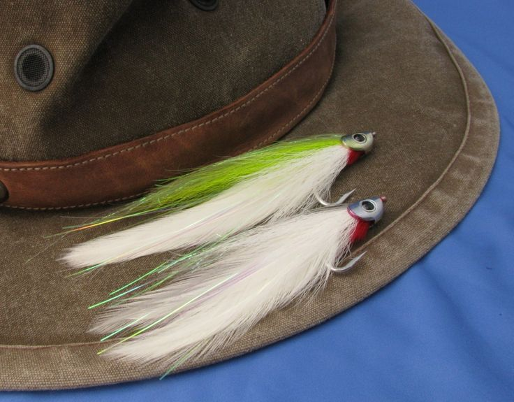The awesome all-purpose Chartreuse Deceiver. This pattern, in a variety of colors and sizes, can entice almost any type of fish anywhere in the world.