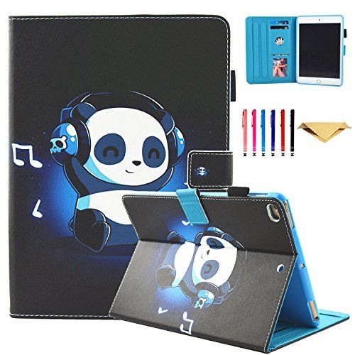 New iPad 9.7 Inch 2017 / iPad Air 2 / iPad Air Case - Monstek Smart Stand Wallet Protective Case Auto Wake/Sleep Picture Slot Cover for iPad 9.7 Inch 2017,iPad Air 1 2,Music Panda #iPad #Inch #Case #Monstek #Smart #Stand #Wallet #Protective #Auto #Wake/Sleep #Picture #Slot #Cover #,iPad #,Music #Panda