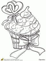 cupcake coeurs et rubans