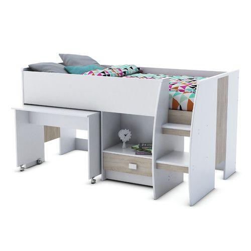Gefunden bei Wayfair.de - Hochbett Axel mit Tisch und Schubladen, 120 x 200 cm