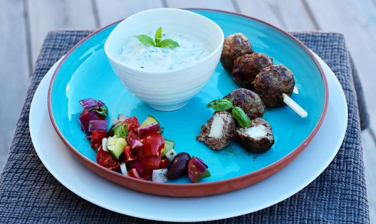 Greek meatballs filled with Apetina