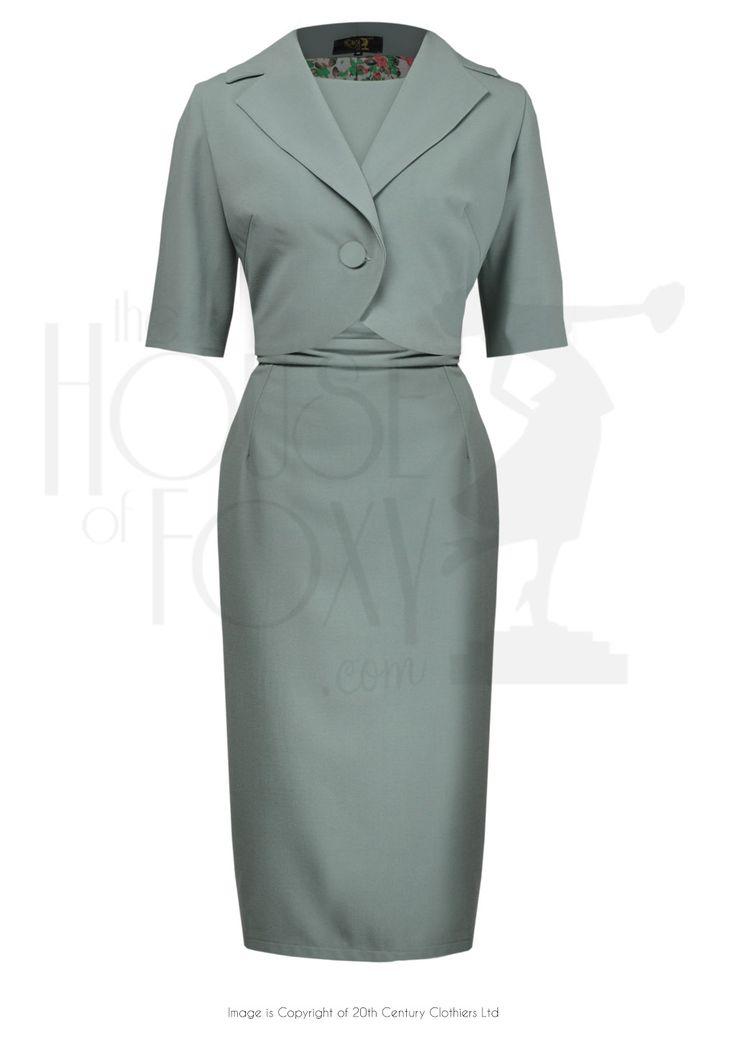 1960s Style Jackie Onassis Dress & Jacket Suit Ensemble