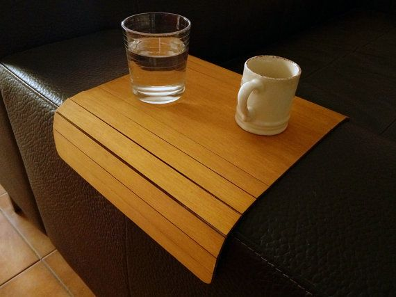 Laser cut wood couch arm wrapsofa tray by DigitalHandmade on Etsy