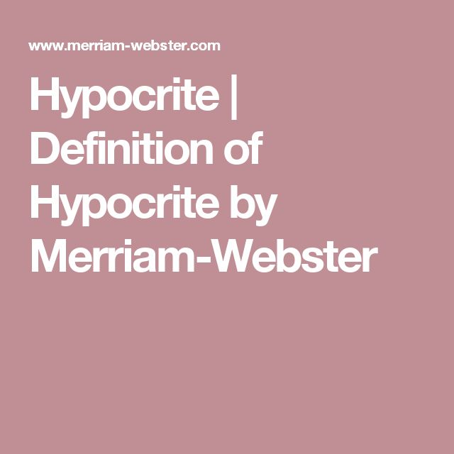 Hypocrite | Definition of Hypocrite by Merriam-Webster