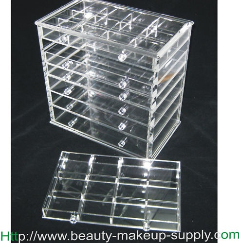DELUXE ACRYLIC 7-DRAWER COSMETIC ORGANIZER DRAWER w ...