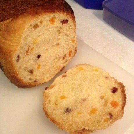 Make and share this Panettone Christmas Bread for the Bread Machine recipe from Food.com.