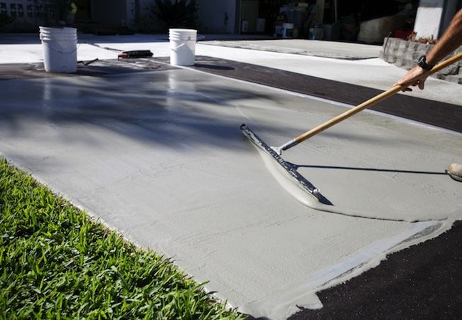 How to repair concrete driveway