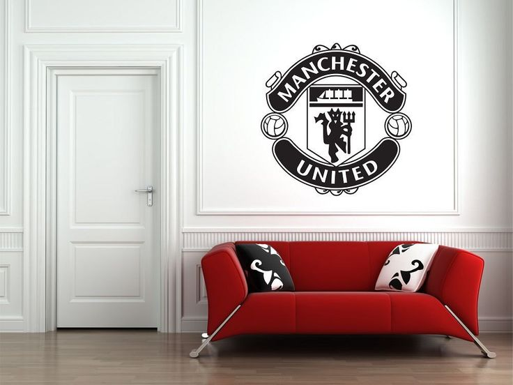 Manchester United F.C. Football Club Vinyl Wall Art Sticker Decal Soccer Logo FC Man united by VinylCre8iveDesigns on Etsy