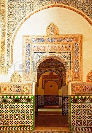 Alcázar en el casco antiguo de Granada  , Spain