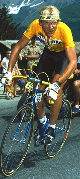 Laurent Fignon + I find that all these athletes that competed years ago all have interesting stories and personality. Fignon won his first Tour de France in '83 at age 22...