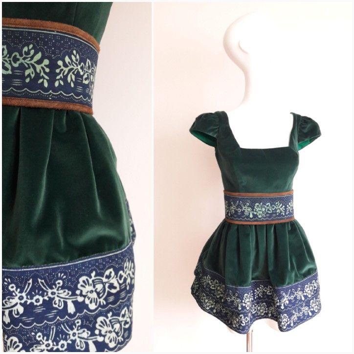 True Blue by Jana Gavalcova / green velvet dress / blueprint / Slovakia - Bratislava