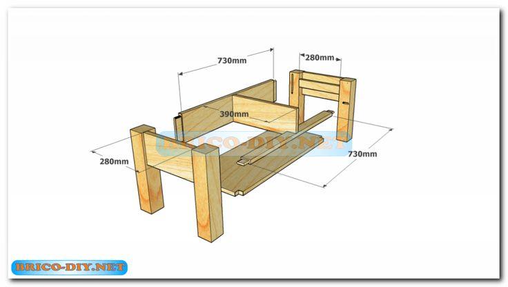 Plano como hacer mesa de centro madera web del bricolaje for Software para fabricar muebles de melamina