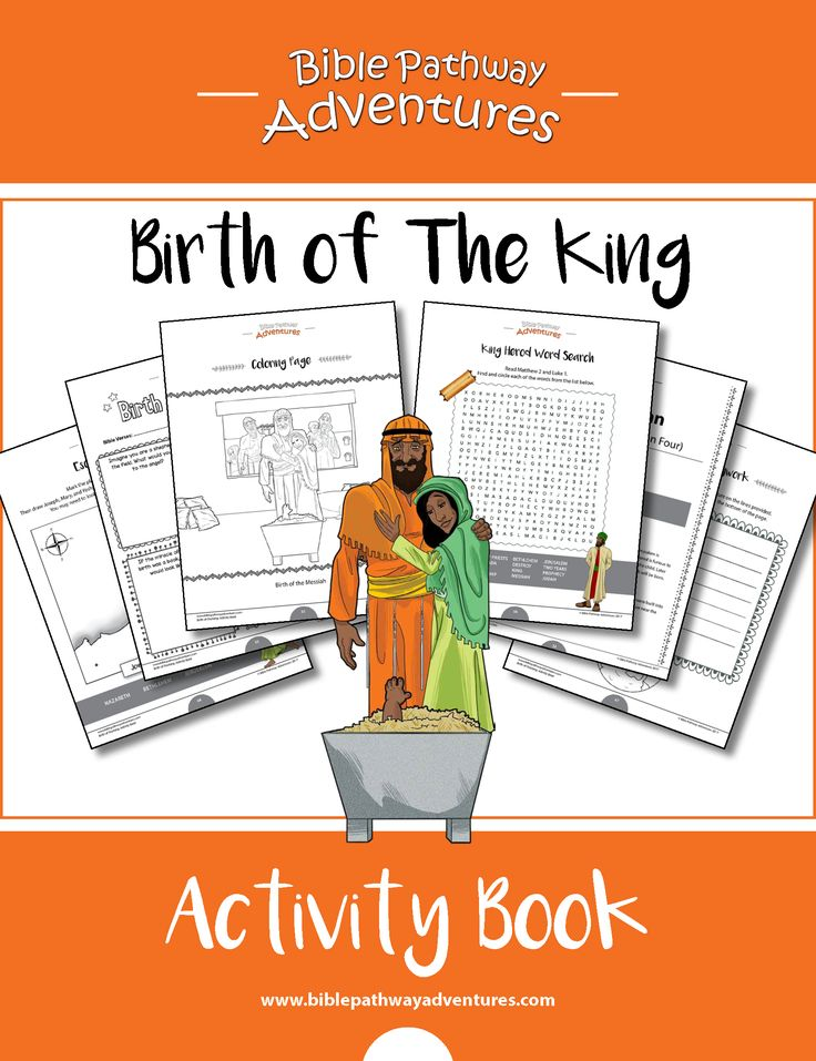 Birth of The King Activity Book & Lesson plans | 76 pages of kid's Bible Activities.