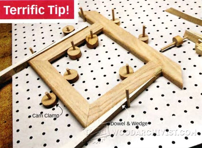 Frame Assembly Pegboard Platform - Furniture Assembly Tips, Jigs and Techniques | WoodArchivist.com
