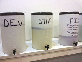 Standard development chemicals in the darkroom I used.