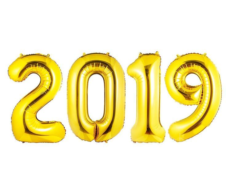 "2019 ""Gold Foil Balloon Banner - 40"" Graduation Balloons / New Year Festival Decorations / Anniversary / Party Supplies - Ribbon and Straw Included - Helium Backed - CY18GC4UOR7"