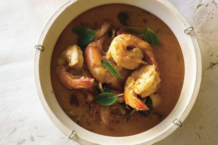 Red prawn curry