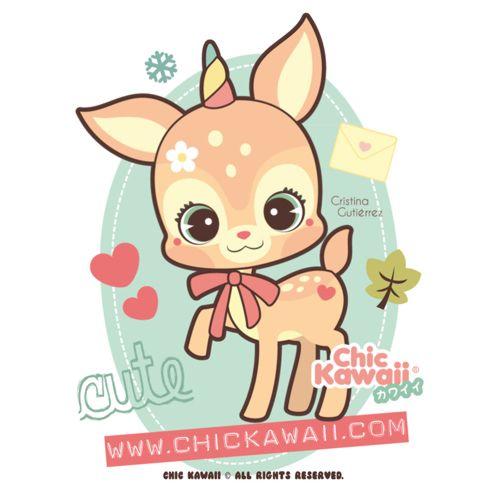 Ciervo Kawaii! Cute Kawaii deer!
