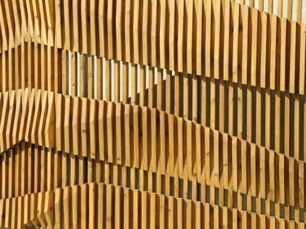 les 25 meilleures id es concernant mur en lamelles de bois sur pinterest cloison en bois. Black Bedroom Furniture Sets. Home Design Ideas