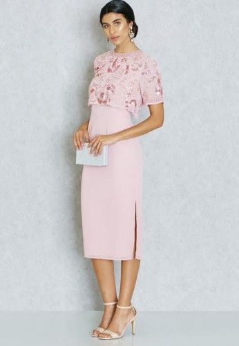 FAFCGFIN Sukienka wieczorowa różowa #pinkdress #mididress #cocktaildress