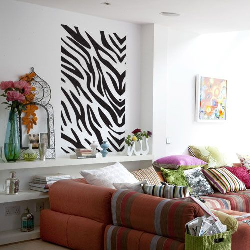Best Latest Wall Stickers Images On Pinterest Wall Stickers - Zebra stripe wall decals