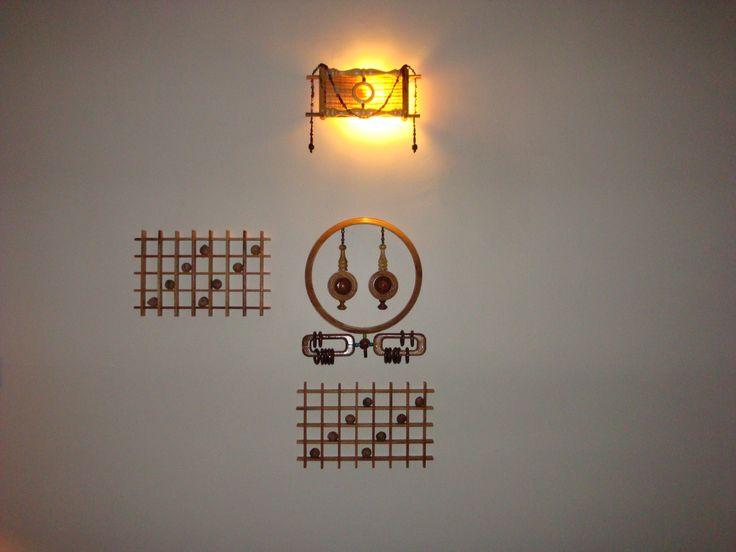 Art, Light, Wooden Decor
