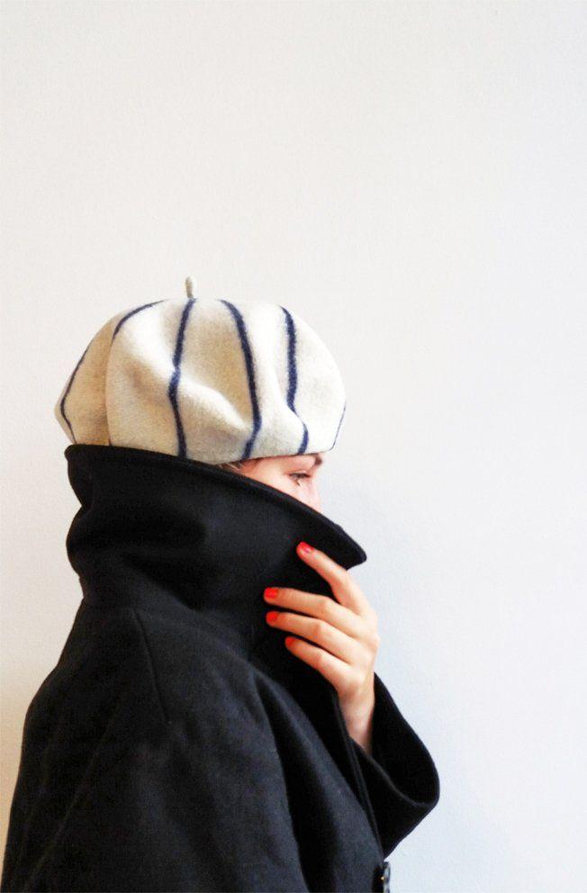 Breton stripe cap, musthave, (béret marnière)  Le béret francais, made in France