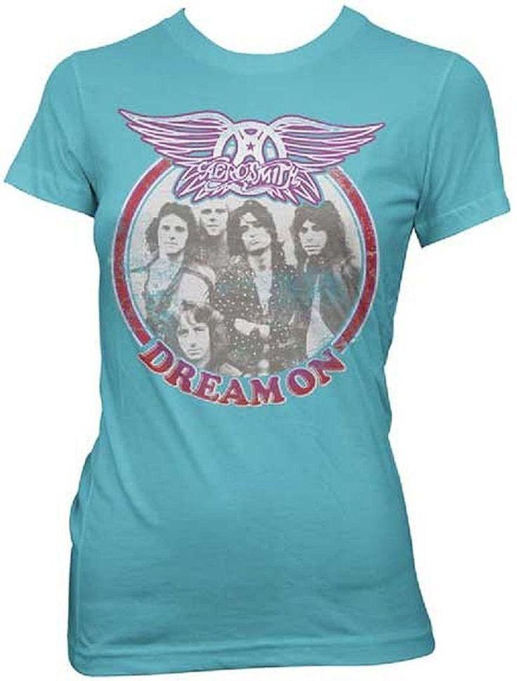Aerosmith Dream On Circle Photo Junior Women's T-Shirt, Large