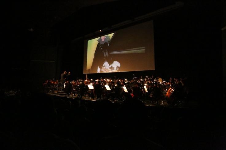 Sinfónica de Colombia haciendo la banda sonora del Festival Internacional de Cine de Cartagena.  Crédito Juan David Padilla @Congo Amarillo Mincultura 2013.
