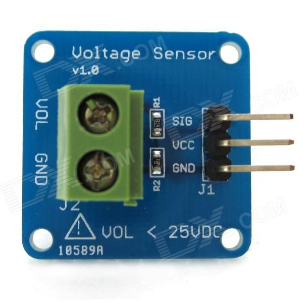 The voltage detection sensor module adopts http://j.mp/1ljRwlt