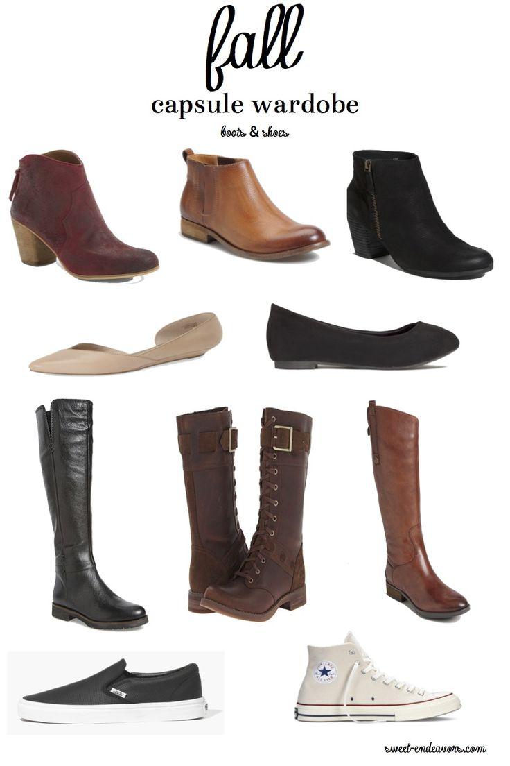 Fall Capsule Wardrobe Shoes