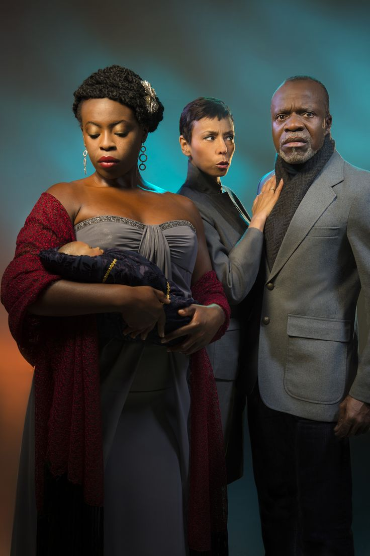 Omozé Idehenre as Hermione, Margo Hall as Paulina, and L. Peter Callender as Leontes in Cal Shakes' A Winter's Tale by William Shakespeare, directed by Patricia McGregor; photo by Kevin Berne.William Shakespeare, Patricia Mcgregor, Cal Shakes, Williams Shakespeare, Margo Hall, Kevin Bern, Omozé Idehenr, Peter Callenders, Culture Shakespeare