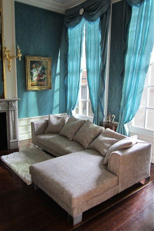 Miniature Modern Modular Lounge Sofa handmade by Josje of A Beautiful World