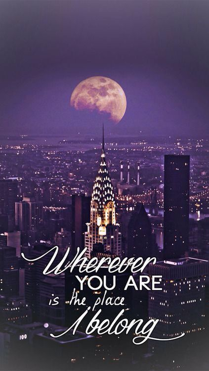 wherever you are is the place I belong<3 1D wallpaper