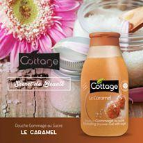 Secret de Beauté n°2 pour une peau éclatante: Avec la Douche Gommage Le Caramel, massez chaque jour votre peau délicatement afin de la libérer de ses cellules mortes.