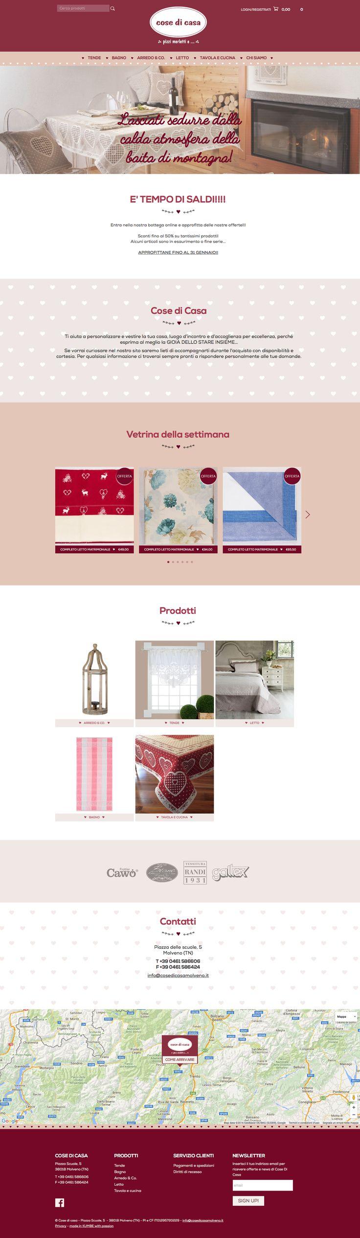 #cosedicasamolveno www.cosedicasamolveno.it #Kumbe #portfolioweb #webdesign #website #responsivedesign #responsive #ecommerce #shop #casa #home #love #tessuti #cuore #tende #tovaglia #homedecor #shabby #molveno #trentino