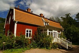 Astrid Lindgren's childhood home in Vimmerby, Sweden