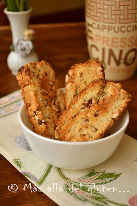 Más allá del gluten...: Biscotti con Avellanas (Receta GFCFSF, Vegana)