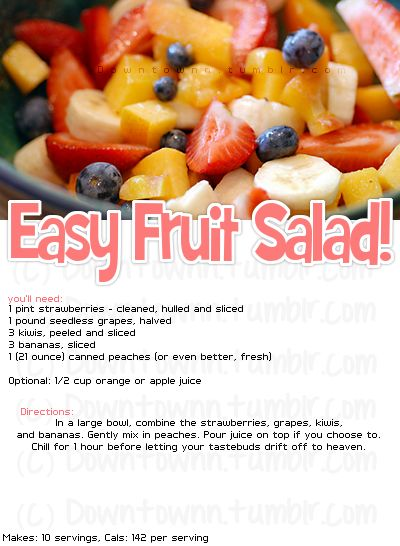 142 calories for easy fruit salad