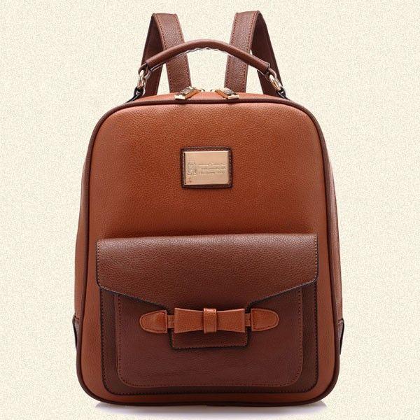 Retro British Leisure Bow Backpack Schoolbag | Fashion Bags- ByGoods.Com
