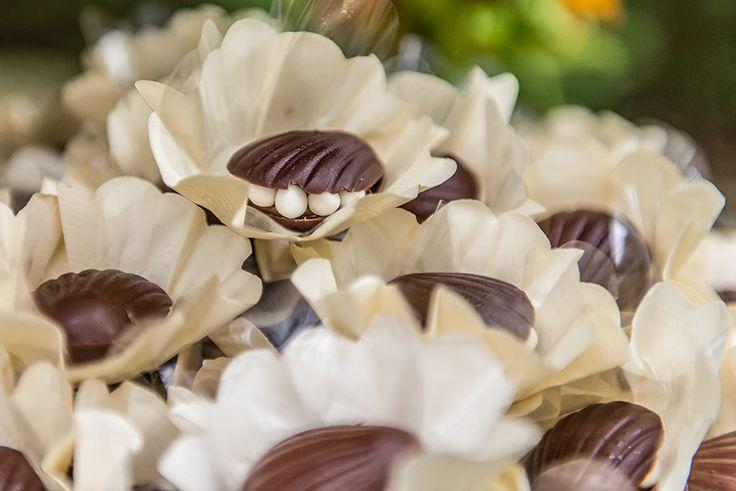 Ideias criativas para casamento na praia: doce em formato de concha - Foto Danilo Máximo