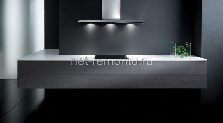 кухни в стиле хай тек черно белые